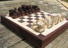 Handmade Original Design Chess set on etsy custom chess  sets, chess pieces chess boards #EasyPin