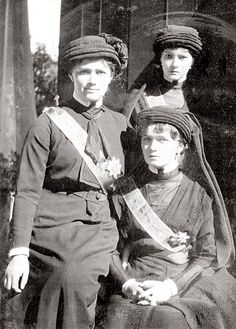 "Grand Duchesses Olga, Tatiana, and Maria Nikolaevna of Russia at the funeral of Grand Duke Konstantin ""KR"" Konstantinovich, who died of a heart attack on 15 June 1915. Anastasia and Alexei were at home with their mother."