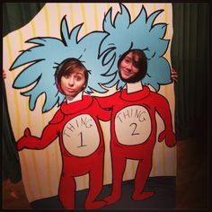 Seussical the Musical lobby decoration! (dr. seuss, thing 1 and thing 2)