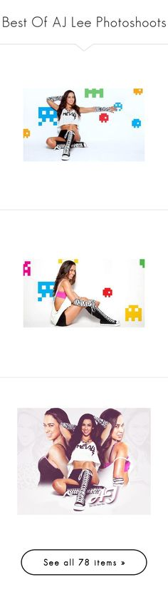 """""""Best Of AJ Lee Photoshoots"""" by sex-on-legs-482 ❤ liked on Polyvore featuring aj lee, wwe, catch, home, home decor, frames, funky picture frames, funky home decor, diva and wwe diva"""