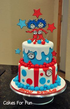 Thing 1 and Thing 2 - Cake by Cakes For Fun