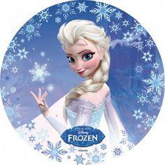 Disque pour gateau Reine des Neiges Elsa en azyme