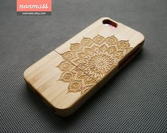 Mandala iPhone 5C case  Floral iPhone 5C case  Wood by nonmass