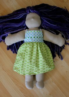Mountain Mama: Free Waldorf Doll Two Tone Dress Tutorial
