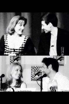 Gillian Anderson and David Duchovny, then and now <3
