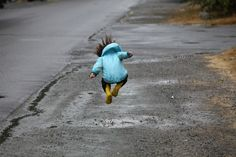Don't let the inevitable April showers deter you from going outdoors. Pull on your boots and get ready to puddle jump. Puddles make for great natural hopscotch courses—use a small rock to determine where to jump next.
