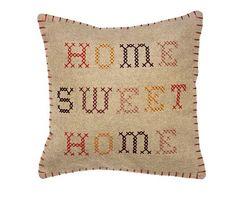guardian: 'Home Sweet Home' cross stitch cushion