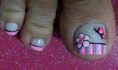 Cute Toe Nails, Fancy Nails, Toe Nail Art, Love Nails, Pretty Nails, Cute Pedicure Designs, Toe Nail Designs, Summer Toe Nails, Spring Nails