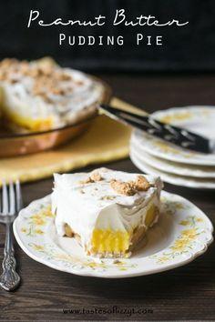 Peanut Butter Pudding Pie - with gluten free pie crust