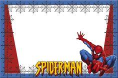 Spiderman Birthday Invitations, Birthday Party Invitations Free, Birthday Tags, Birthday Background Wallpaper, Disney Background, Superhero Name Tags, School Labels, Hello Kitty Wallpaper, Heart Balloons