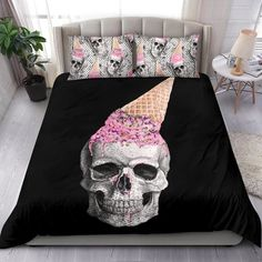 Are you looking for unique bedding sets for adults? We got you covered. All of our bedding sets have unique designs such as gothic bedding sets, skull bedding sets and more. Our bedding sets are super-soft, comfortable, and perfect for any season. Each bedding set comes with a duvet cover and 2 pillow covers. Blue Bedding Sets, Queen Bedding Sets, Gothic Bed, Bed Sheets, Pillow Inserts, Comforters, Duvet Covers, Pillow Cases, Unique Bedding