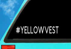 Yellow Vest Car Decal, Alberta Oil, Yellow Vest Sticker, No carbon Tax Decal Decal Approximately 10 Inches wide by Inches Tall Decal can be used on Car Decals, Vinyl Decals, Mermaid Wall Art, Transfer Paper, 6 Years, Primary Colors, Surface, How To Remove, Vest