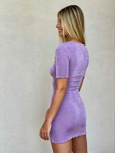 #minidresses #partydresses #purpledresses #cutoutdresses New Arrival Dress, I Feel Pretty, Cutout Dress, Party Dress, Bodycon Dress, Purple, Mini, Swimwear, Sleeves