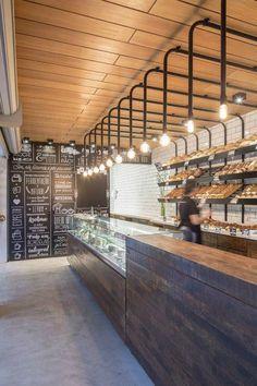 Kitchen Bar Cafe Spaces 68 Ideas For 2019 Pizzeria, Bakery Interior, Restaurant Interior Design, Café Bar, Bakery Design, Cafe Design, Counter Design, Coffee Shop Design, Cafe Shop