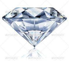 Diamond — Vector EPS #reflection #jewelery • Available here → https://graphicriver.net/item/diamond/3691696?ref=pxcr