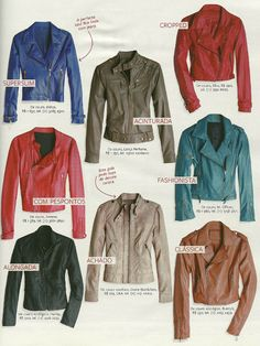 Leathers Jackets, not my style but still cute  @Yesmine Krassi