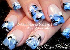 Drag Marble Nail Art | Nail-art by Robin Moses | Bloglovin'