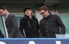 Niall at the Chelsea vs. Newcastle United game in London yesterday