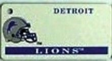 """This is an NFL Detroit Lions Team License Plate Key Chain or Tag. An excellent and affordable gift for an avid NFL fan! The key chain is available with engraving or without engraving. It is a standard key chain made of durable plastic and size is approximately 1.13"""" x 2.25"""" and 1/16"""" thick."""