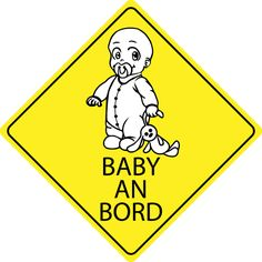 Autosticker - Baby an Bord Baby An Bord, Decor, Autos, Madness, Fabric Animals, Cuddling, Sticker, Decoration, Decorating