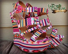 Hot Pink Tribal Wedges The Lace Cactus