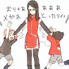 Hn.. Welcoмe вacĸ тo вυѕιneѕѕ #saradauchiha #sarada #sasusaku #naruto #narutoshippuden #anime #manga