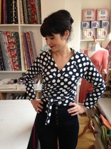 Lisa sews the Coppelia cardi from Papercut Patterns