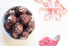 Dark Chocolate Peppermint Truffles - simple as that
