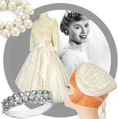 Vintage look book: 1950s bride #lookbook #outfit #fashion