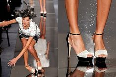 Chanel Couture fail. This makes me feel better about myself knowing that even people who get paid to walk in high heels sometimes fall.