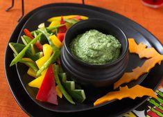 Green goblin dip with spiky crudité image