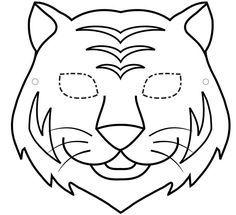Tiger ninja turtles coloring pages ~ careta-tigre | party | Pinterest | Tiermasken, Dschungel ...