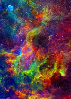 Amazing colors in these space gas clouds