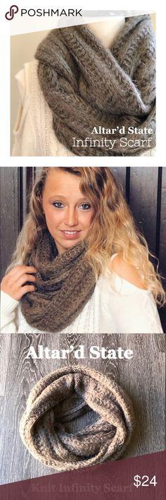 "🆕🌸 Altar'd State Infinity Scarf Super soft mocha knit infinity scarf. Length 33"", width 15"" Altar'd State Accessories Scarves & Wraps"