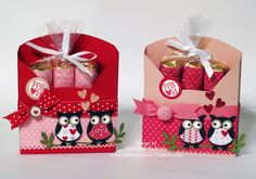 Red, Pink, and White Owls
