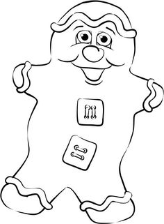 Free Printable #191   Here's a buddy for the Jolly Gingerbread man. Looks like blissful ignorance might be a requirement for baked holiday p...
