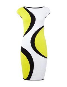 MARC-CAIN-COLLECTIONS Kleid mit Wabenstruktur im dreifarbigen Design in  Gelb online entdecken ( 8d303928ba