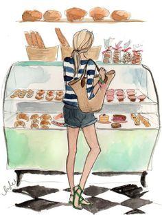 Illustration Art / In the bakery