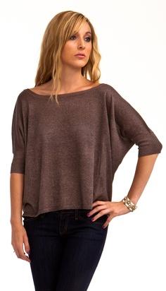 Flowy Shimmer Sweater Top
