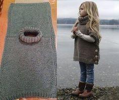 Poncho für ein Kind stricken #stricken