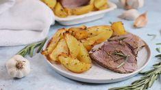 Fokhagymás-rozmaringos szűzérme krumplival Recept képpel - Mindmegette.hu - Receptek Lidl, Camembert Cheese, Panna Cotta, Bacon, Pork, Lunch, Make It Yourself, Recipes, Kale Stir Fry