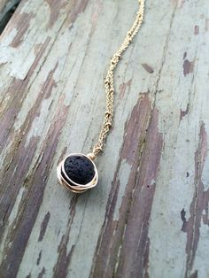 Black Oil Lava Rock Diffusing Necklace                                                                                                                                                                                 More