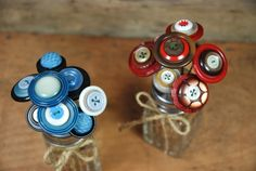 Make Salt Shaker Button Bouquets...these are adorable