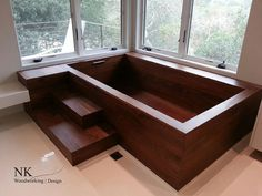 Wood Bathtubs | Wooden Bath Sculpture by NK Woodworking - Seattle — NK Woodworking & Design