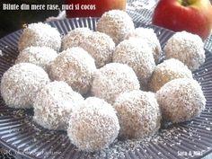 » Bilute din mere rase, nuci si cocosCulorile din Farfurie Coco, Tiramisu, Deserts, Muffin, Gluten, Favorite Recipes, Sweets, Baking, Breakfast