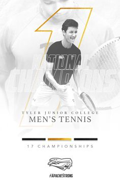Tennis social media graphics for Tyler Junior College; Junior College, Sport Design, Social Media Graphics, Tennis, Design Ideas, Posts, Graphic Design, Game, Movie Posters