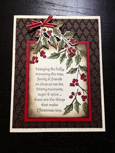 Getting in the holiday spirit! Christmas Card Verses, Christmas Sentiments, Christmas Card Crafts, Christmas Cards To Make, Xmas Cards, Christmas Art, Handmade Christmas, Holiday Cards, Christmas 2017