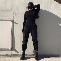 내 꼬 야 - - Source by wintermodee clothes Hipster Outfits, Edgy Outfits, Mode Outfits, Korean Outfits, Grunge Outfits, Girl Outfits, Fashion Outfits, Hipster Clothing, Black Outfits
