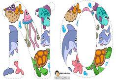 Alfabeto relleno con animales marinos.   Oh my Alfabetos!
