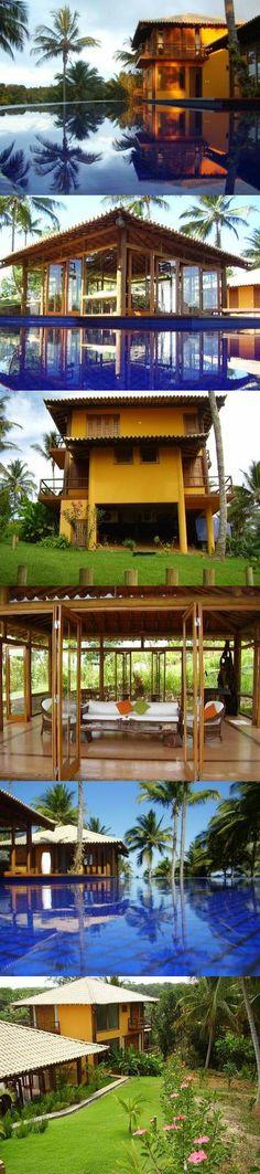 Esta moderna e maravilhosa casa está localizada dentro do melhor condomínio de Itacaré.